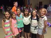 2nd Grade Girls Having Fun at the Dance