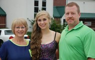 My Mom, Dad, and I before prom last year