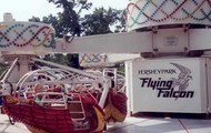 "Hershey's one of many other thrill rides called the ""Flying Falcon""."