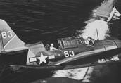 Example of U.S. Dive Bomber (SB2C Helldiver)