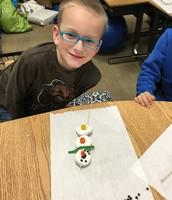 Jonah and his snowman treat