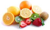 La fruta aporta muchas vitaminas y proteinas que te ayudan.