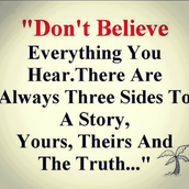 Don't Always Believe What You Hear