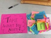 Take What Yo Need!