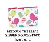 Medium Thermal Zipper Pouch in Tweethearts