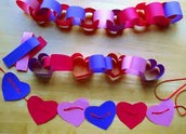 String hearts or countdown to Valentines Day!