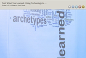 Using Word Cloud to Visually See Learning