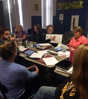 Snapshot of Some of Our Elementary Teachers Working Together at our October 10 Professional Development Day
