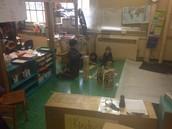 Alison & Naomi's class build with Kapla blocks