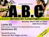 ABC: Anything But Clothes Party!