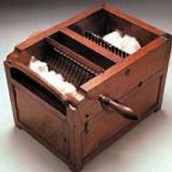 Cotton gin with a handle