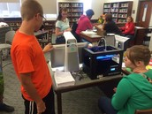 Our students love our new 3d printer. Thank you Otsego Endowment Foundation!