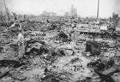 Destruction of Hiroshma after the bomb