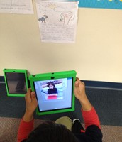 We use our iPads for research and then sharing that work.