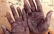 The hands of a slave