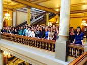 Belles et Beaux at the Indiana Statehouse