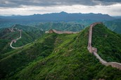 Cool image of the wall of China