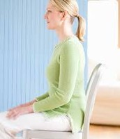 Sit up straight use, good posture