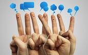 Social Media Finger Chat
