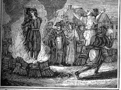 What caused the witch-hunts?