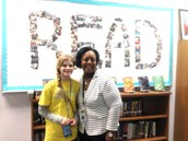 Student job shadow in our school library!