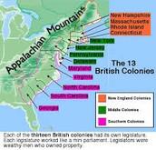 The 13 British Colonies