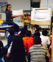 Ms. Gomez' engaging students in Character Traits!