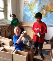 Using stuffed animals from home in dramatic play