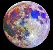 Colour full blue moon