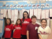 Phillies shirts were a hit on sports day