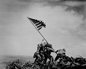 Picture: US Marines Raising the American Flag on Mt. Suribachi, Iwo Jima