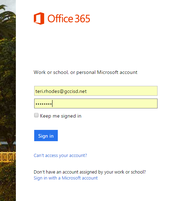 Step 9: Login to Office 365