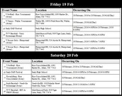 Friday - Saturday Events