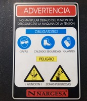 3._ Cartel de advertencia
