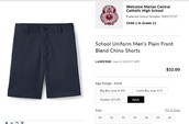 Marian Uniform Shorts - MC-Embroidered