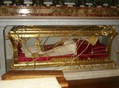 The pope entombed in St Peters Basilica