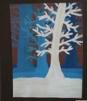 Student value study tempra painting