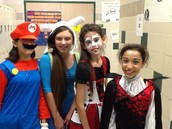 dress up day in the 6th grade hallway