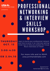Professional Networking/ Interview Skills Workshop (10/13)