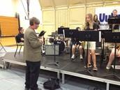Mr. Kiefer helping Sierra Foster on improvisation!