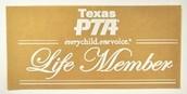 PTA Lifetime Membership!