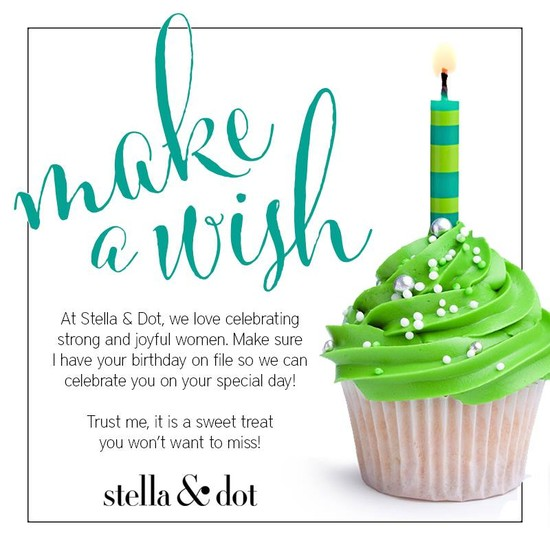 Stella Dot Style by Janine – Sample Happy Birthday Email