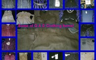 Some of the many Q A D clothing items.