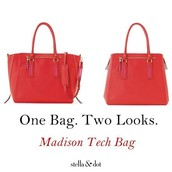 Madison Tech Tote-Poppy $79