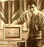 Dell with one of the first computers he made