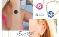 Acrylic Monogrammed Earrings, Necklaces, and Bracelets