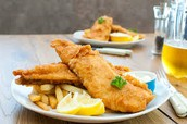 Enjoy fish and chips