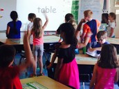 Sight word in action - disco dancing to high frequency words