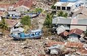 dry land after tsunami