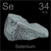 Selenium (Se), is a gray christiline nonmetal with semiconducting properties.-google